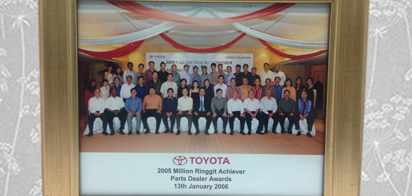 Million Ringgit Achieves Parts Dealer (Toyota Malaysia) 2005