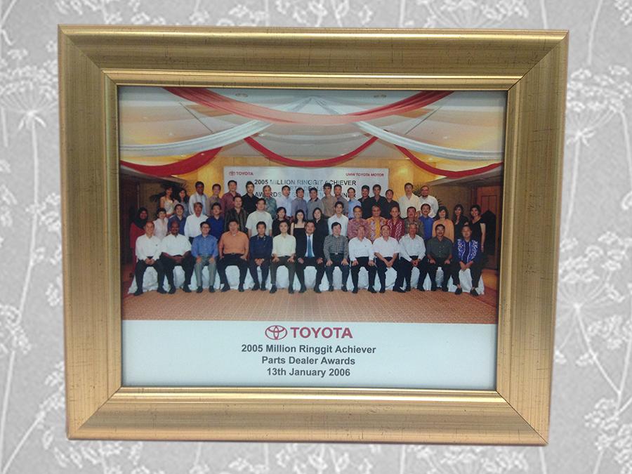 Million Ringgit Achieves Parts Dealer (Toyota Malaysia) 2005