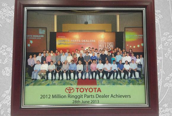 2012 Million Ringgit Achieves Parts Dealer (Toyota)