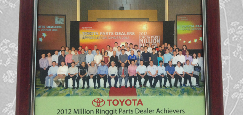 2012 Million Ringgit Achieves Parts Dealer (Toyota)